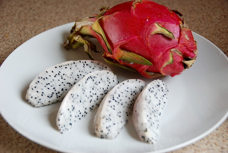 dragon fruit in plate